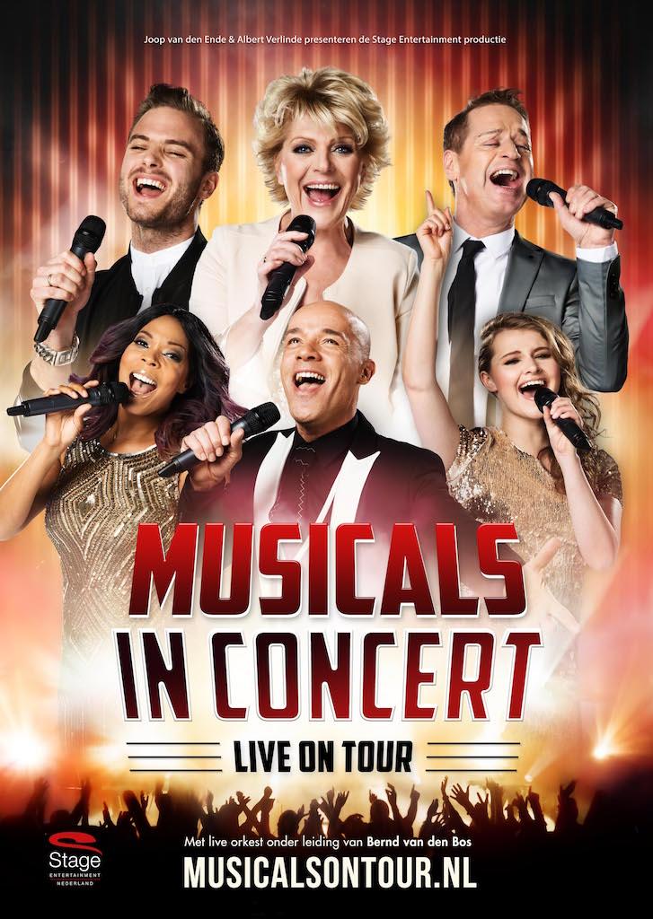 Simone Kleinsma, Jim Bakkum, Stanley Burleson, Carolina Dijkhuizen, Tony Neef en Vajèn van den Bosch in Musicals in Concert - Live on Tour