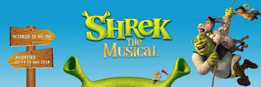 Auditie-oproep: spelers (m/v) voor Shrek de Musical