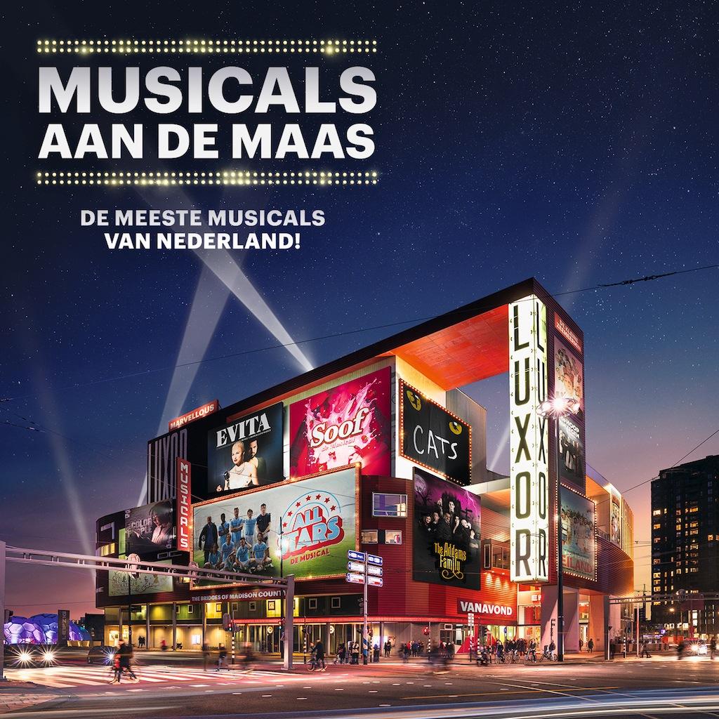 Musicalsterren nemen trailer op in Rotterdam