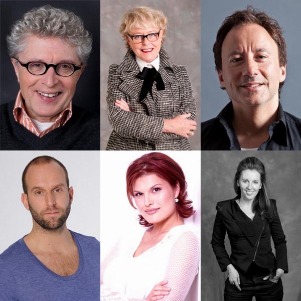Jacques D'Ancona, Marianne van Wijnkoop, Daniël Cohen, John ter Riet, Anouk van Nes en Cocky van Huijkelom
