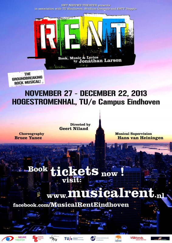 Poster rockmusical RENT Eindhoven-small