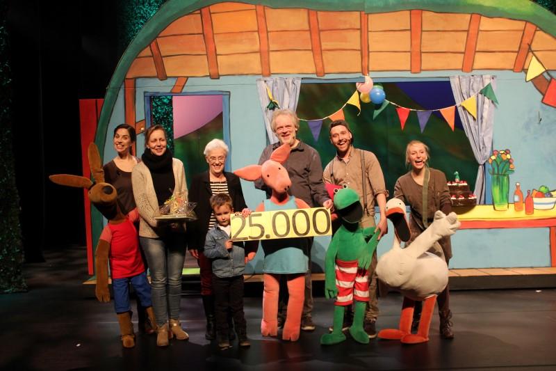 25.000ste bezoeker Kikker is jarig - Credits Theater Terra