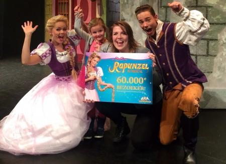Rapunzel de Musical ontvangt 60.000ste bezoeker