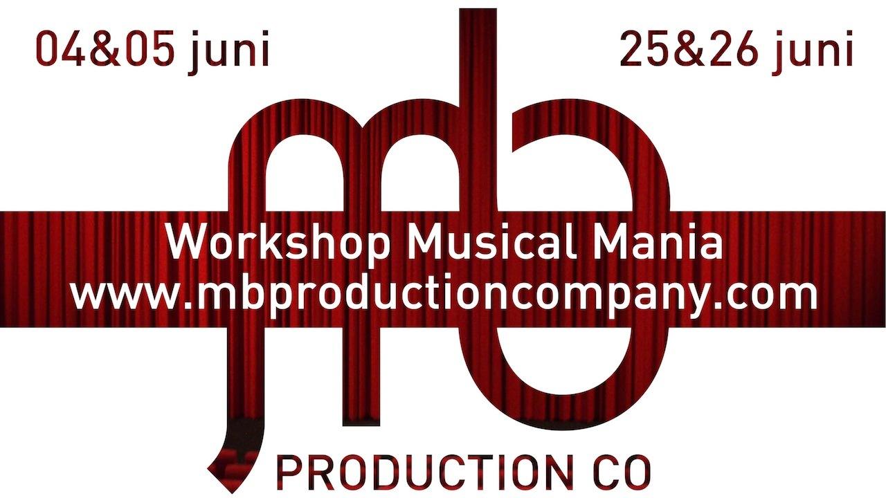 MB Production Company organiseert workshops 'Musical Mania'