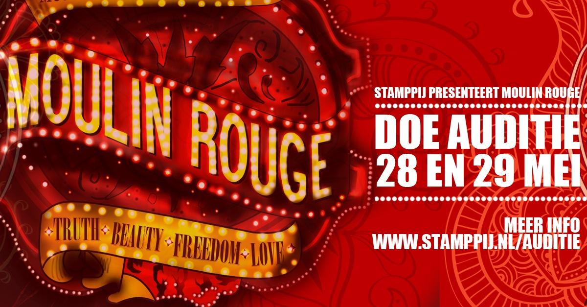 Auditie-oproep: spelers, zangers en dansers voor 'Moulin Rouge'