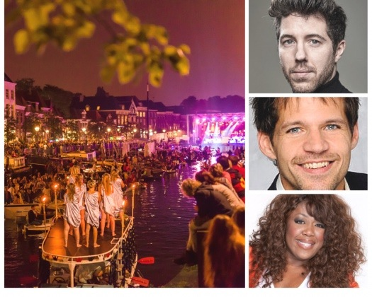 """René van Kooten en  William Spaaij bij Thorbeckegracht """"Musicals in Concert"""""""