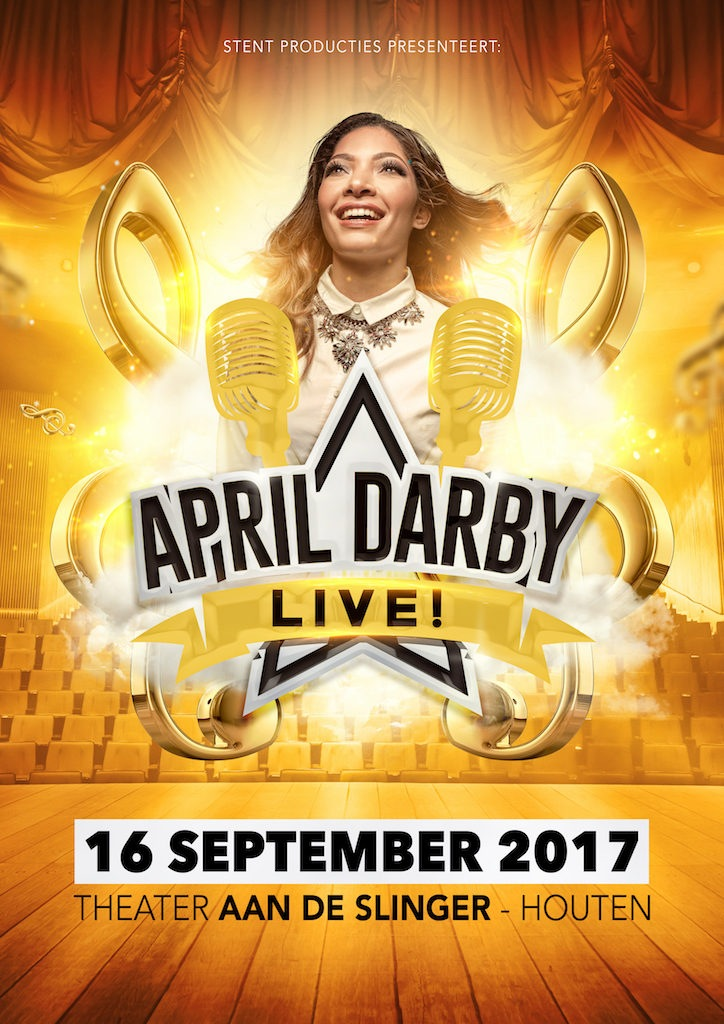 STENT producties kondigt 'April Darby Live' aan