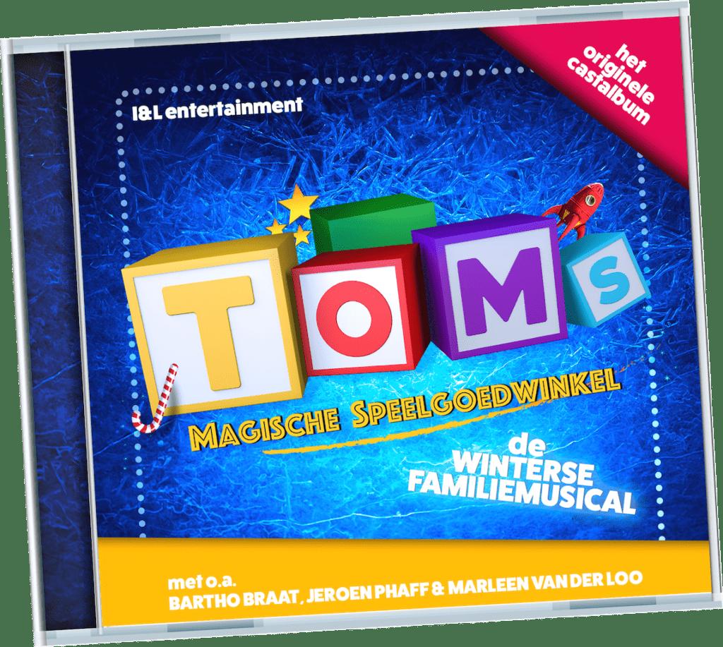 Het castalbum van 'Toms Magische Speelgoedwinkel' is uit
