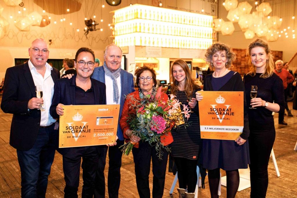 Soldaat van Oranje - De Musical ontvangt 2,5 miljoenste bezoeker