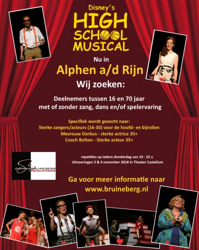 Auditie-oproep: Disney's High School Musical (Alphen a/d Rijn)
