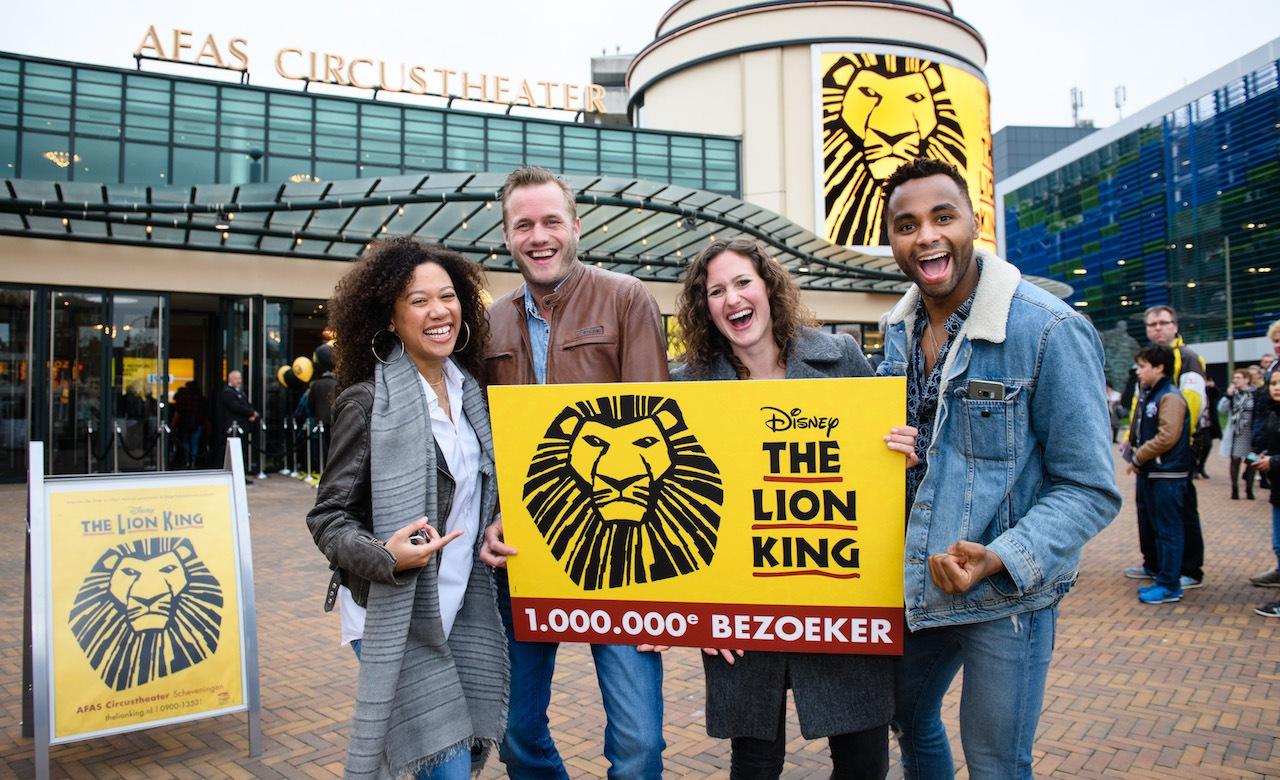 Eén miljoen bezoekers voor The Lion King