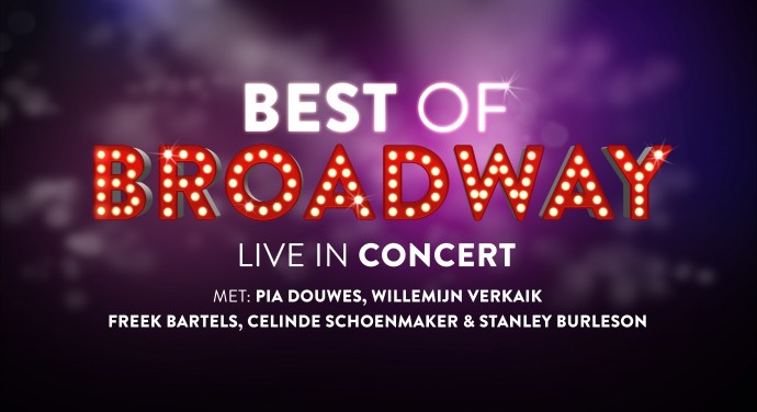 Pia, Willemijn, Celinde, Stanley & Freek in 'Best of Broadway'