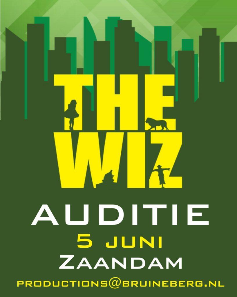 Auditie-oproep: Spelers > 16 jaar voor The Wiz (Zaandam)