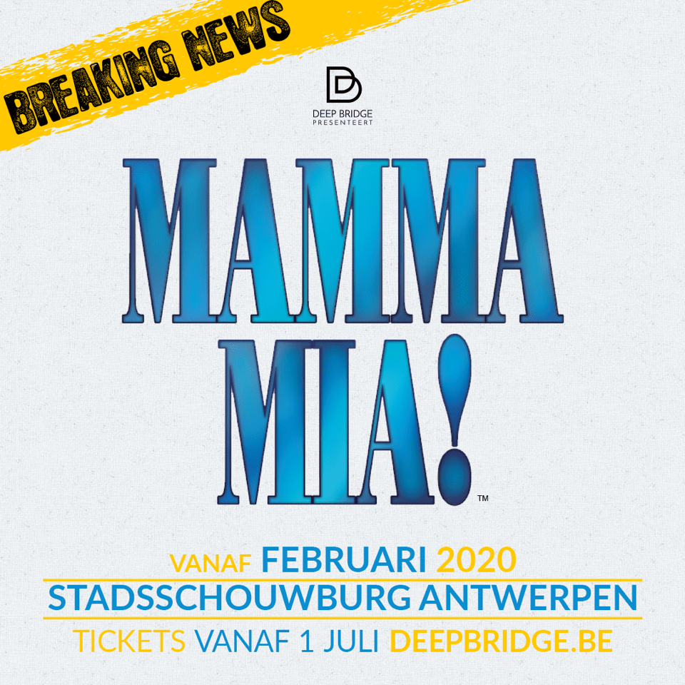 MAMMA MIA!komt naar Vlaanderen!