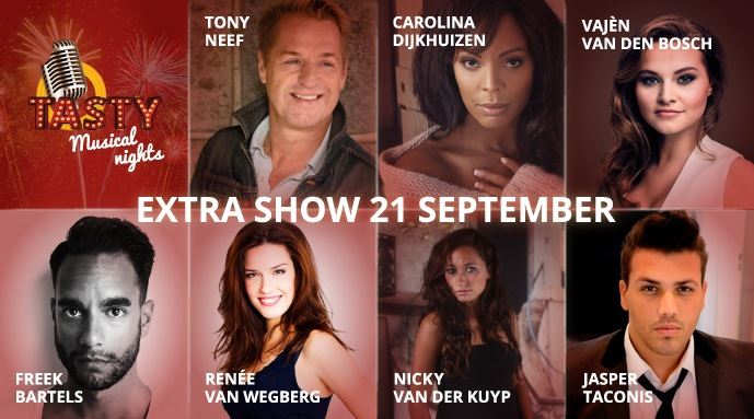 Extra show 'Tasty Musical Nights' op 21 september