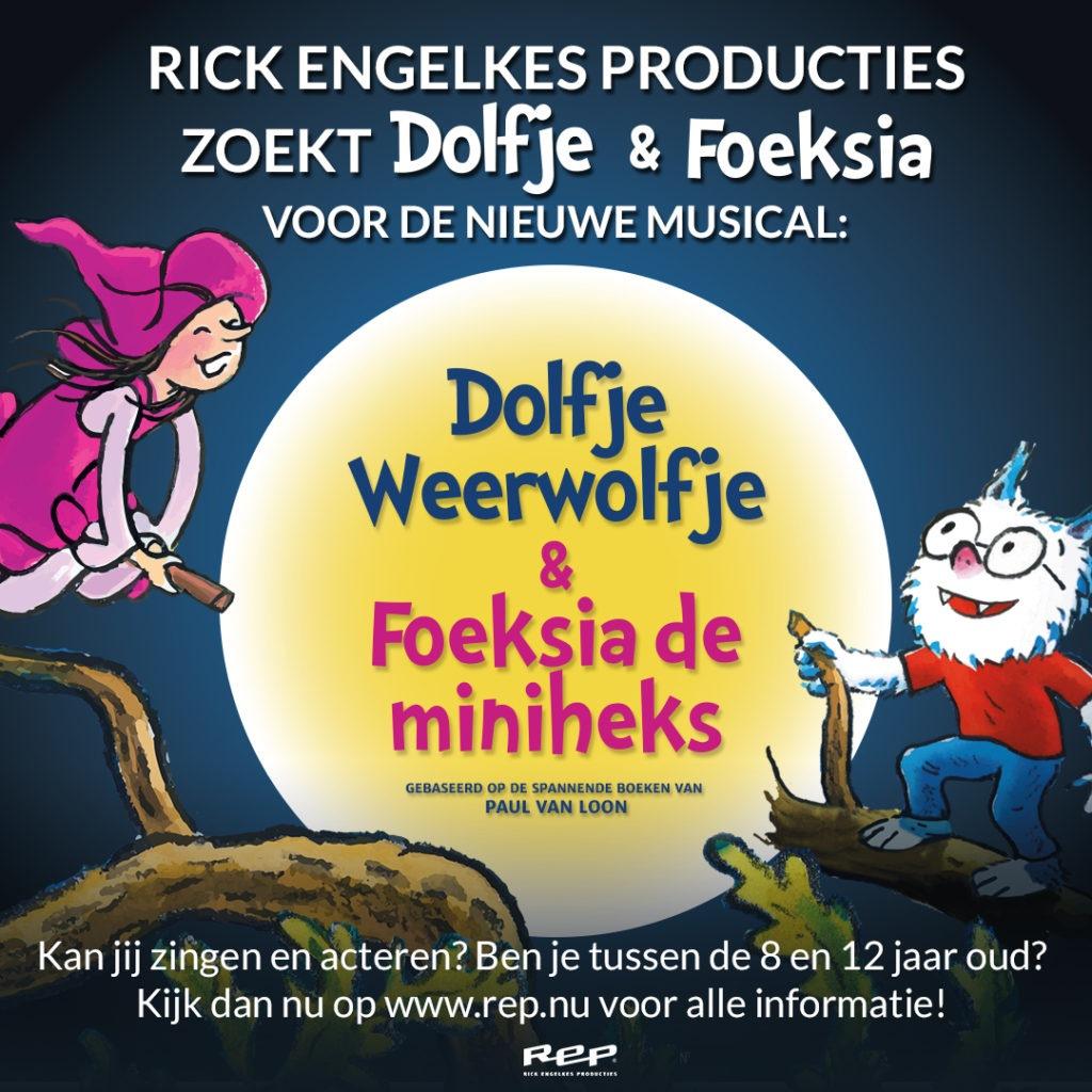 Auditie-oproep: kinderen voor 'Dolfje Weerwolfje en Foeksia de miniheks'