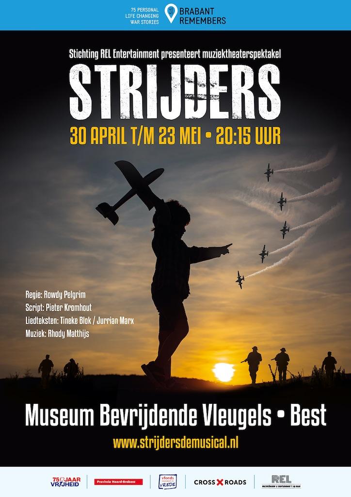 Muziektheaterspektakel 'Strijders' in oorlogsmuseum 'Bevrijdende Vleugels'