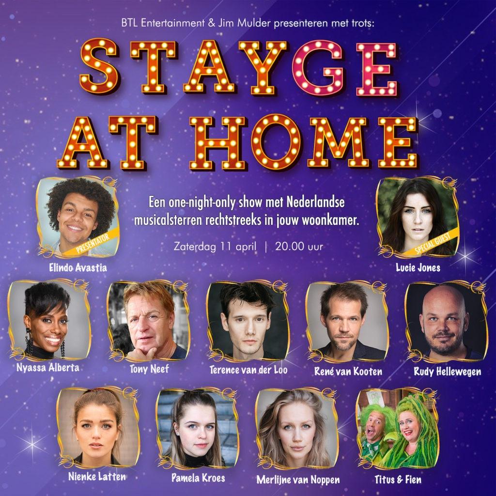 Volledige line-up van 'Stayge At Home' nu bekend