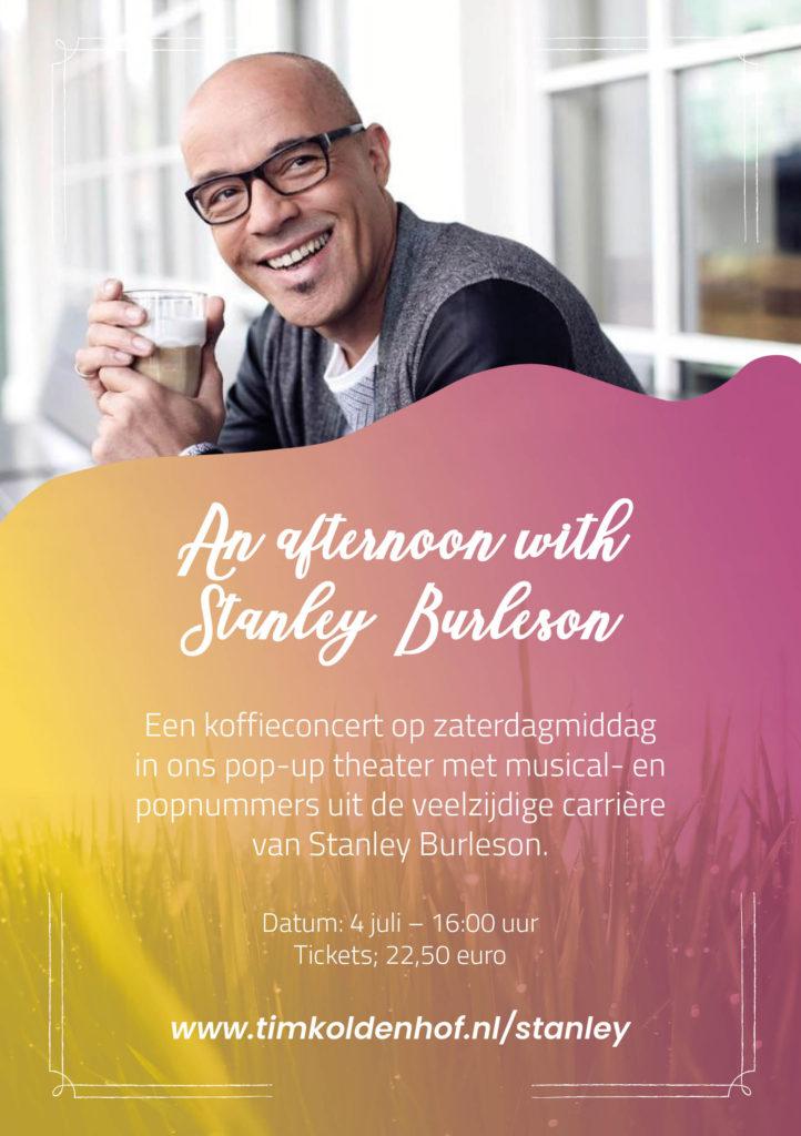 Stanley Burleson geeft koffieconcert in Apeldoorn