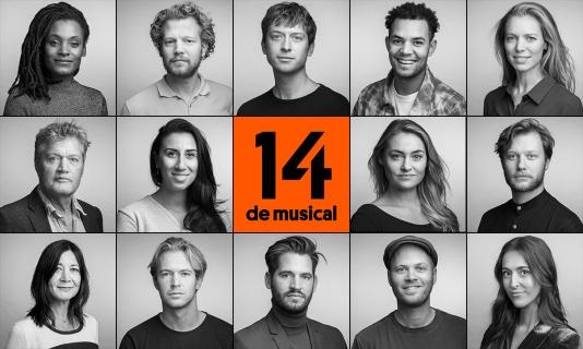 Gehele cast '14 de musical' bekend